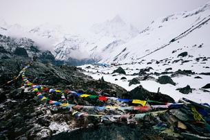ABC trek (Annapurna Base Camp trek), Nepalの写真素材 [FYI03560425]
