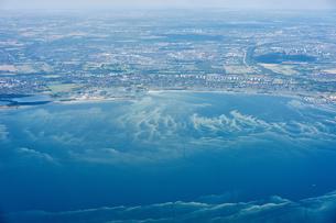Aerial view of coastline, Copenhagen, Denmarkの写真素材 [FYI03561306]