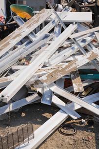 Pile of metal at scrap yardの写真素材 [FYI03563448]