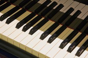 Close up of piano keysの写真素材 [FYI03563460]