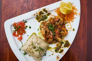 Light seafood dishの写真素材 [FYI03564301]