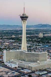 Stratosphere Casino Hotel and tower, Las Vegas, Nevada, USAの写真素材 [FYI03568027]
