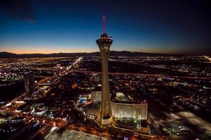 Stratosphere Casino Hotel and tower, Las Vegas, Nevada, USAの写真素材 [FYI03568031]