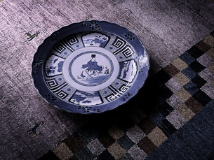伊万里大皿とギャッペの写真素材 [FYI03568059]