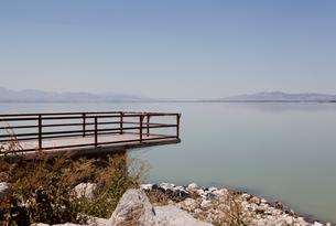 Utah Lake, Spanish Fork, Utah, USAの写真素材 [FYI03572187]