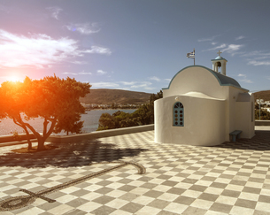 Church, Amadas, Milos Island, Greeceの写真素材 [FYI03575995]