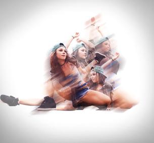 Dancer in various posesの写真素材 [FYI03578378]