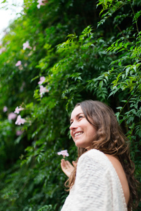 Woman, outdoors, smiling, Mexico City, Mexicoの写真素材 [FYI03582124]