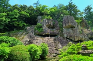 新緑の那谷寺の写真素材 [FYI03582293]