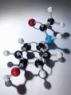 Close up of molecular modelの写真素材 [FYI03583975]