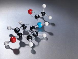 Close up of molecular modelの写真素材 [FYI03583976]