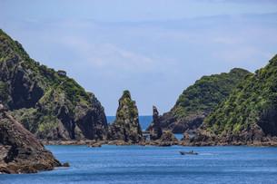 南さつま市坊津の海辺の風景の写真素材 [FYI03584293]