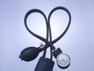 Close up of blood pressure gaugeの写真素材 [FYI03584331]