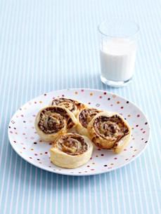 Plate of savory vegemite rollsの写真素材 [FYI03584896]