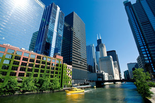 The Loop, Downtown Chicago, Illinois, USAの写真素材 [FYI03585791]