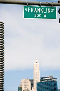 Franklin Street, Downtown Chicago, Illinois, USAの写真素材 [FYI03585794]