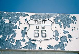 Route 66 sign, Amboy, California, USAの写真素材 [FYI03585795]