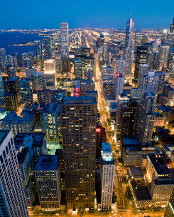 View of Downtown Chicago, Illinois, USAの写真素材 [FYI03585801]