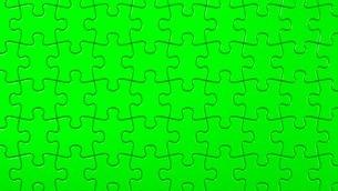 Green Jigsaw Puzzleのイラスト素材 [FYI03595328]