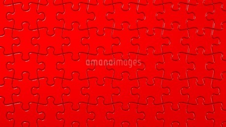 Red Jigsaw Puzzleのイラスト素材 [FYI03595435]
