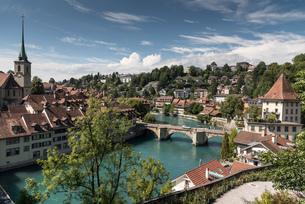 Elevated view of Bern, Switzerland, Europeの写真素材 [FYI03595942]