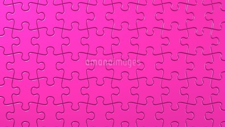Pink Jigsaw Puzzleのイラスト素材 [FYI03595986]