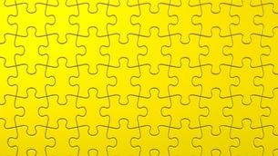 Yellow Jigsaw Puzzleのイラスト素材 [FYI03600322]