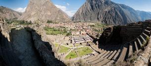 Ollantaytambo Ruins, Cusco, Peru, South Americaの写真素材 [FYI03601436]