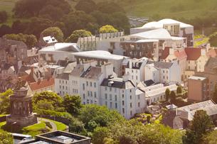 View from Calton Hill, Edinburgh, Scotlandの写真素材 [FYI03602417]