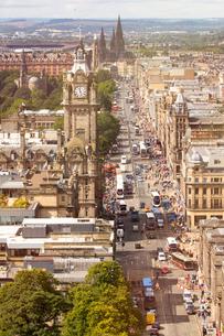 View from Calton Hill, Edinburgh, Scotlandの写真素材 [FYI03602418]