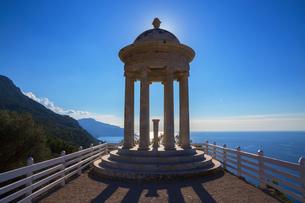 Pavilion at Son Marroig Mansion, Deia, Majorca, Balearic Islands, Spain, Europeの写真素材 [FYI03602708]