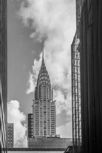 View of Chrysler Building, B&W, New York, USAの写真素材 [FYI03603715]