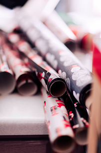 Wrapping paper for Christmasの写真素材 [FYI03608624]