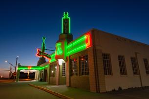 Old U Drop Inn, Route 66 landmark, Shamrock, Texasの写真素材 [FYI03608946]