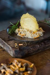 Mushroom risotto mealの写真素材 [FYI03610029]