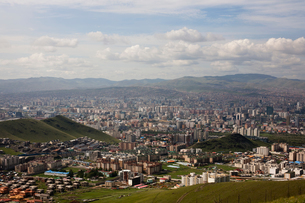 Scenic cityscape, elevated view, Ulaan baatar, Mongoliaの写真素材 [FYI03611936]