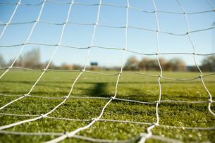 Football goal netの写真素材 [FYI03613854]