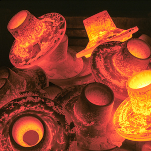 Hot forged steel parts in steel worksの写真素材 [FYI03615473]