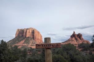 Scenic landscapes, Sedona, Arizona, USAの写真素材 [FYI03622384]