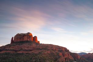 Scenic landscapes at sunset, Sedona, Arizona, USAの写真素材 [FYI03622388]