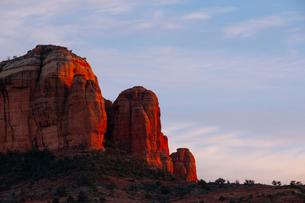 Scenic landscapes at sunset, Sedona, Arizona, USAの写真素材 [FYI03622395]