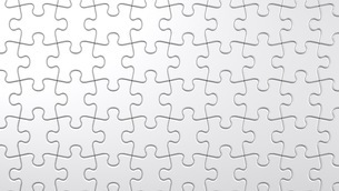 White Jigsaw Puzzleのイラスト素材 [FYI03622614]
