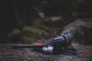Climbing shoes and gear, Squamish, Canadaの写真素材 [FYI03624573]