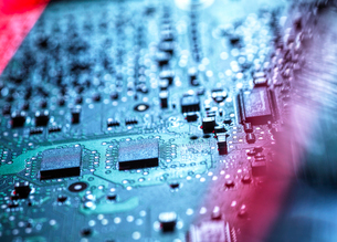 Laptop computer hardware, A computer virus attacking and erasing the hardware of laptop computer, clの写真素材 [FYI03625511]