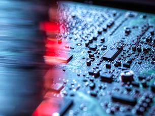 Laptop computer hardware, A computer virus attacking and erasing the hardware of laptop computer, clの写真素材 [FYI03625512]