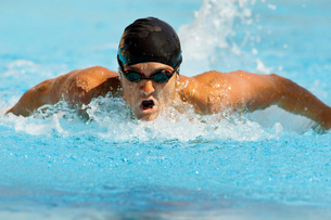 Competitive Swimmerの写真素材 [FYI03627512]