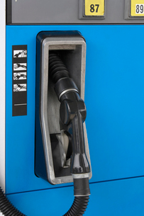 Fuel Pump at Gas Station  close upの写真素材 [FYI03627943]