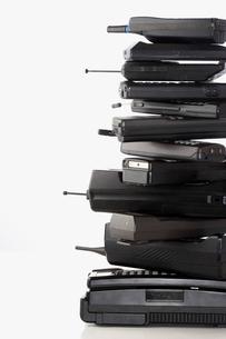 Pile of wireless phonesの写真素材 [FYI03629274]