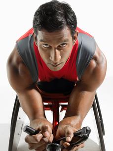 Paraplegic cyclerの写真素材 [FYI03630637]