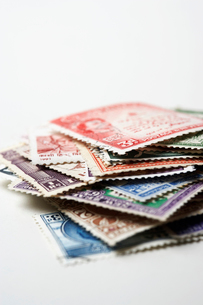 Pile of Postage Stampsの写真素材 [FYI03630692]